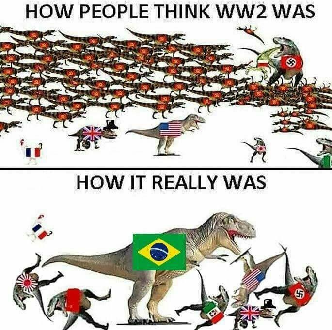 Ou ficar a pátria livre ou morrer pelo Brasil - meme