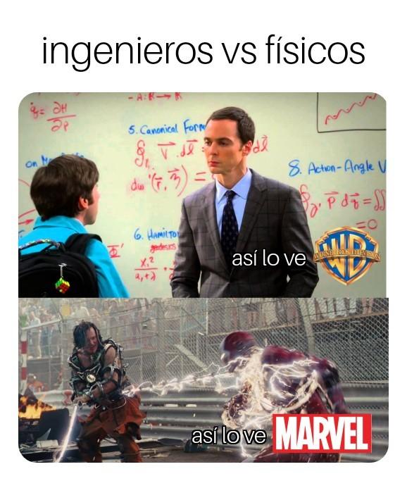 Ingenieros vs físicos - meme