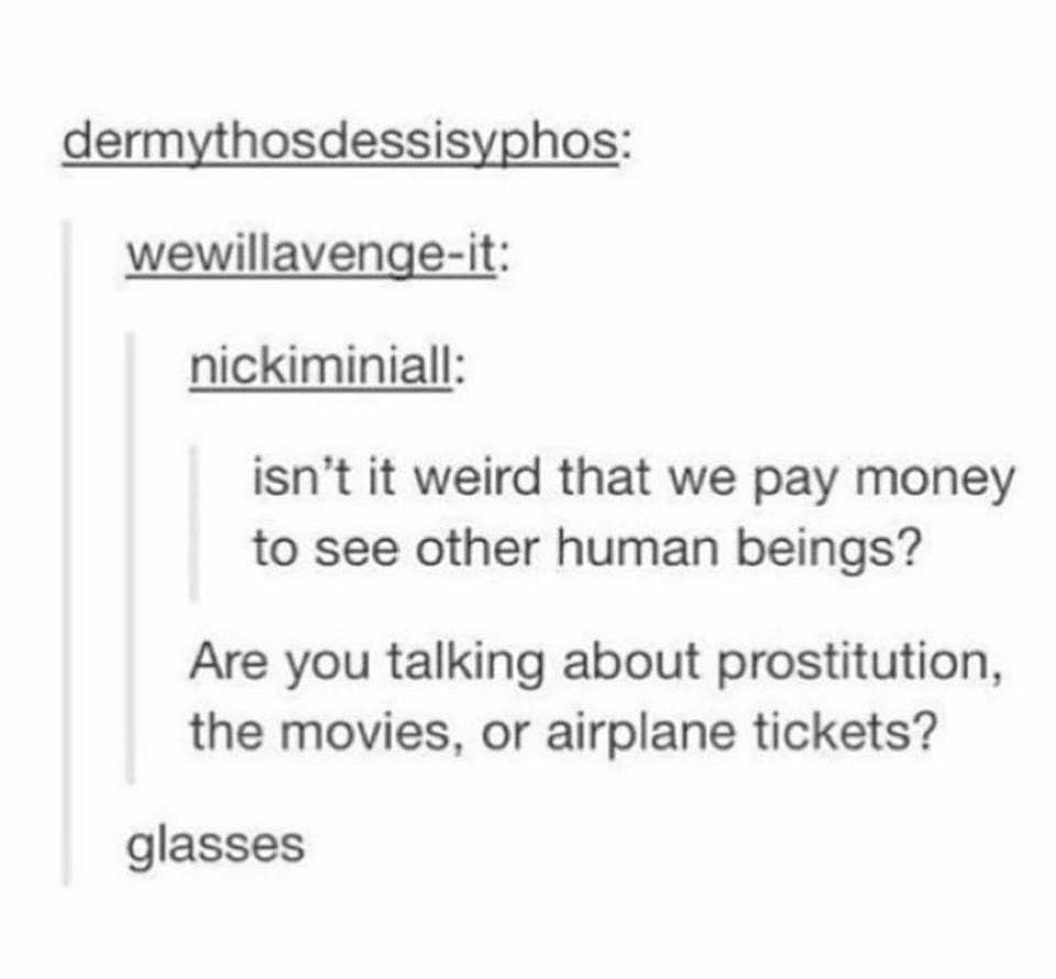 Taking a prostitute with glasses to the movies in france - meme