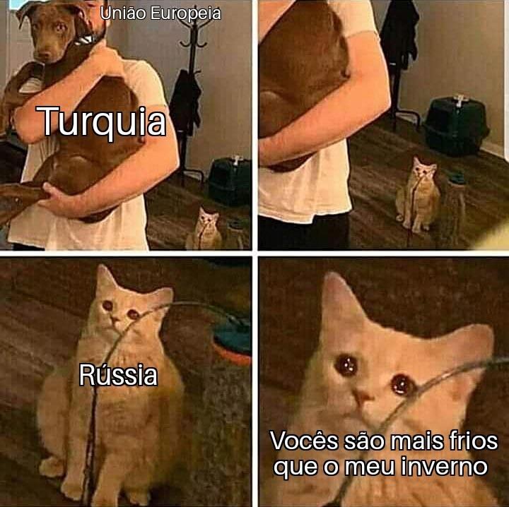 Pobre Rússia, ninguém a quer - meme