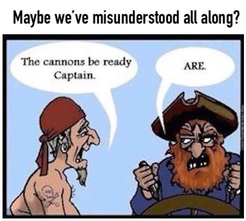 Grammar pirate - meme