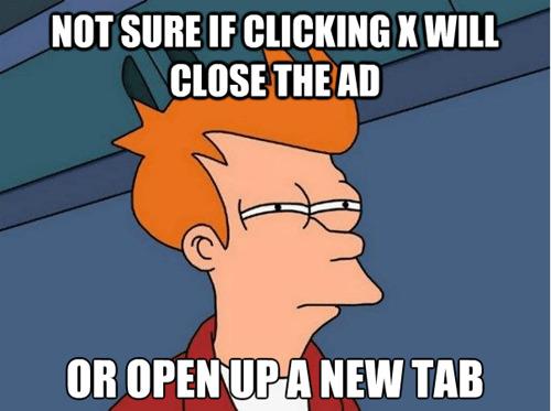 It will open a new tab - meme