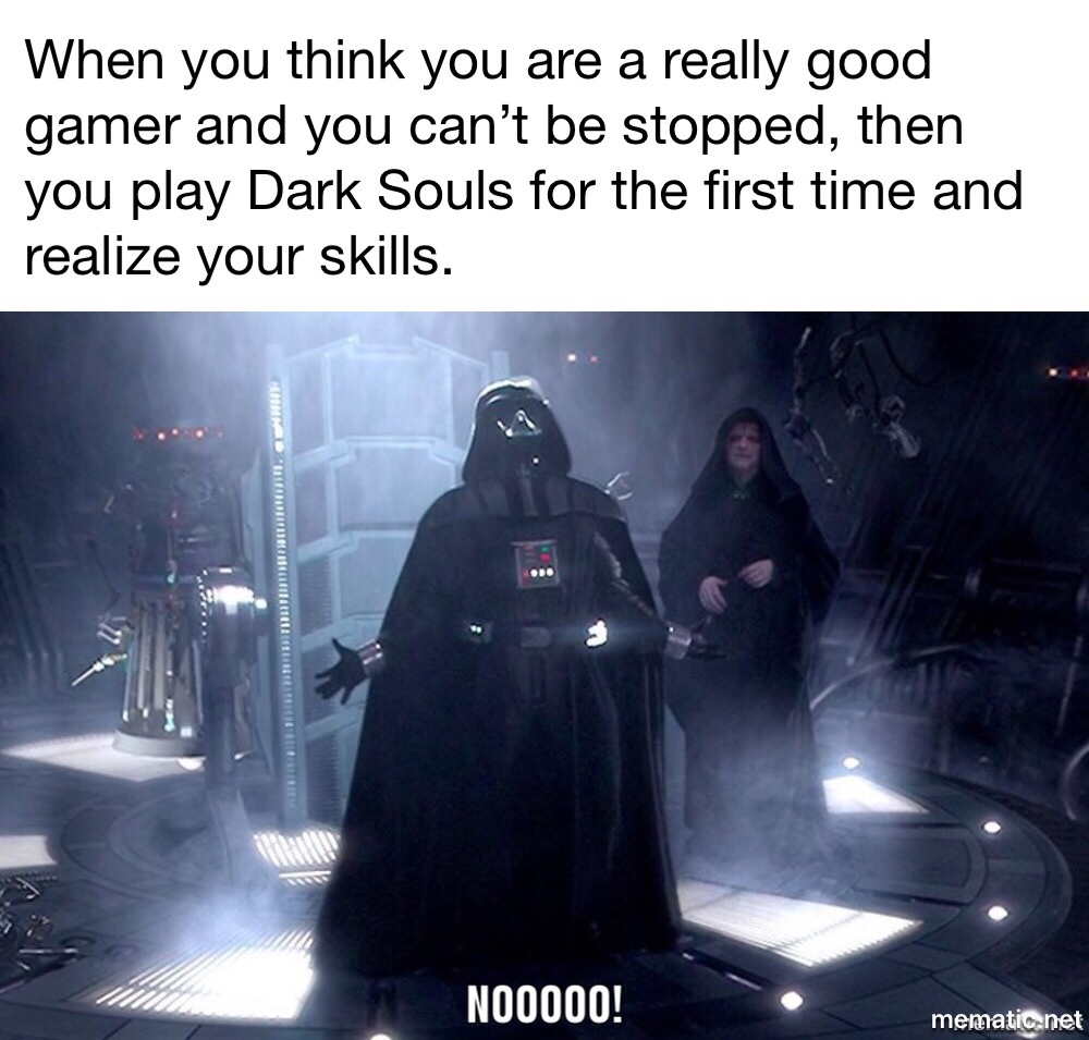 Dark Souls is Harder than online gaming - meme