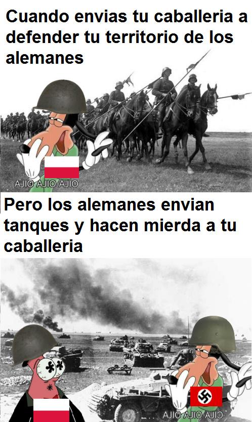 Cuando todos hacen memes de las trincheras pero tu haces memes de la WW2