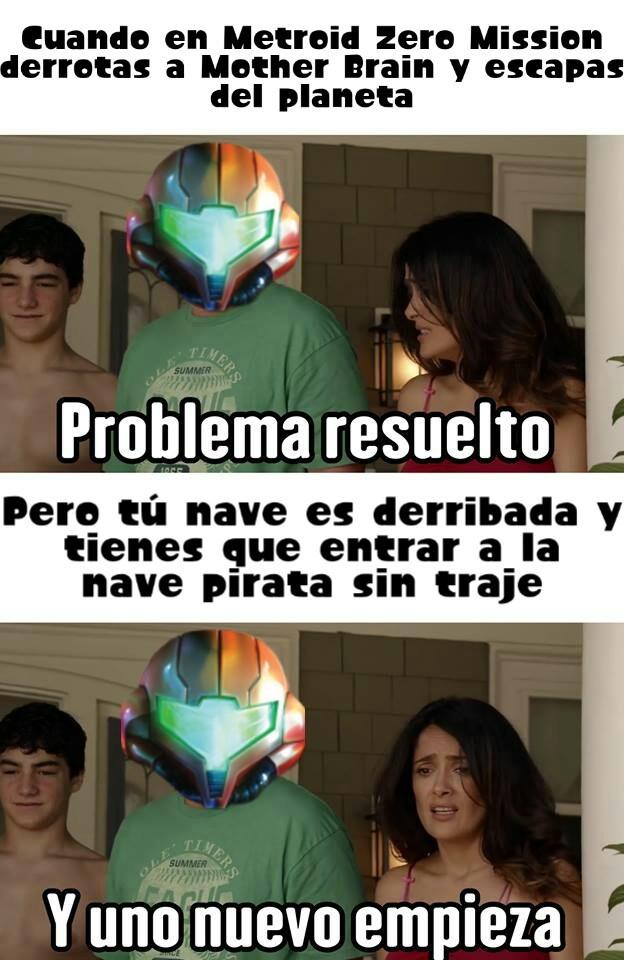 Cual es su juego favorito de Metroid - meme