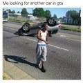 Moi en train de regarde une autre voiture dans gta