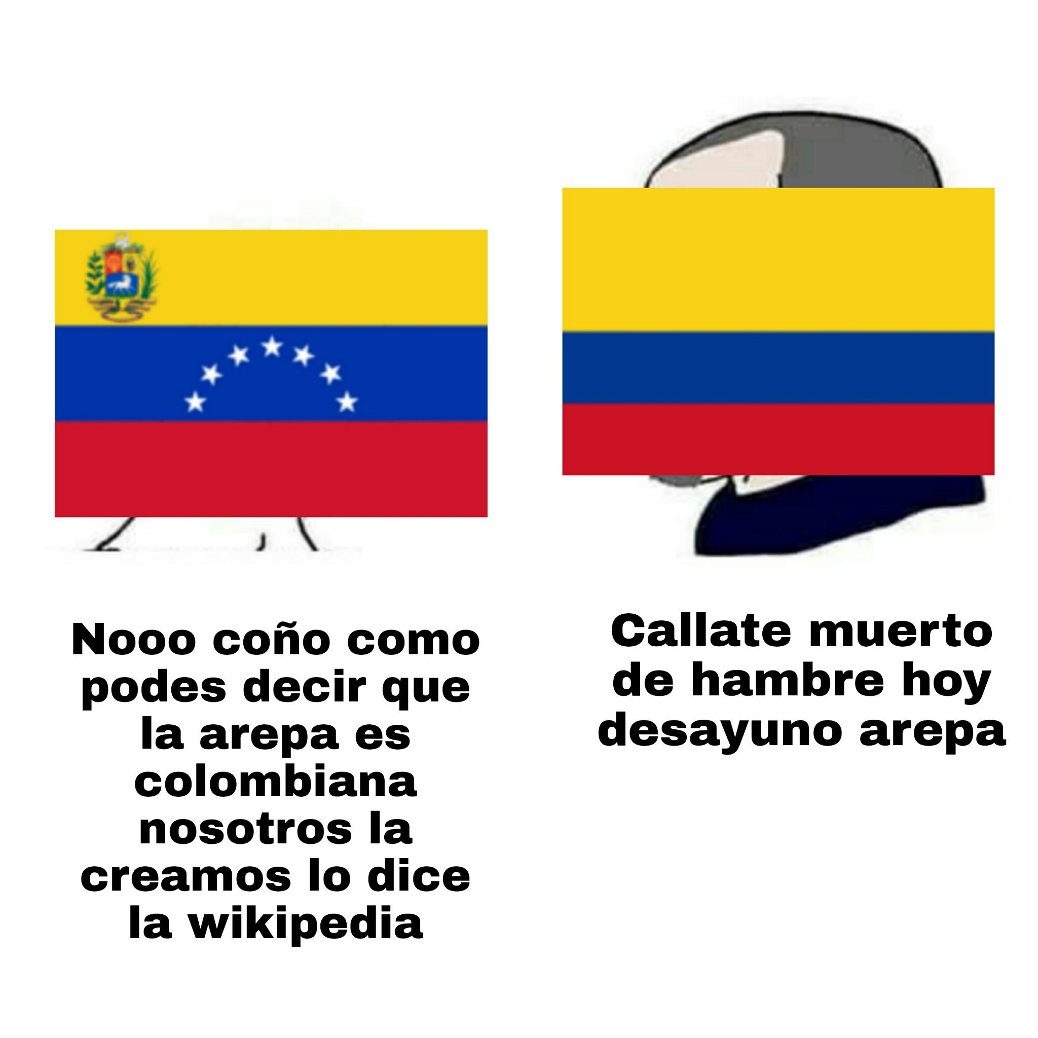 Lo admito la Arepa es venezolana - meme