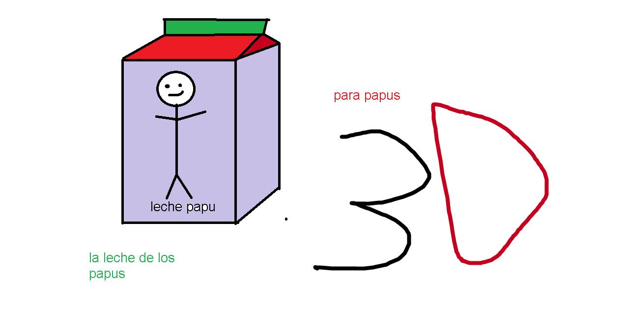 intente crear la leche papu en 3d y me salio esta caca XD el chiste esta en el orto de tu prima - meme