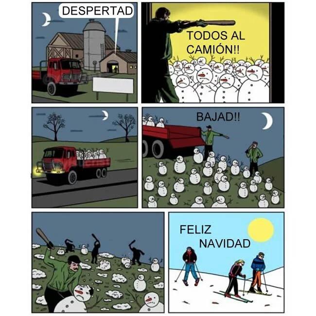 La explicación de los campos nevados - meme