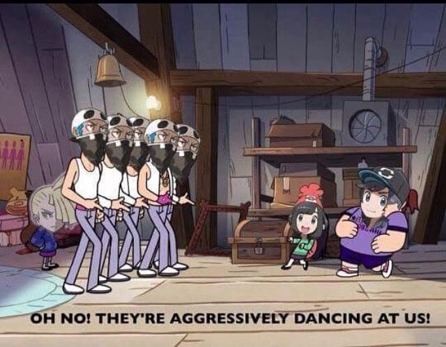 Team skull looks lit - meme