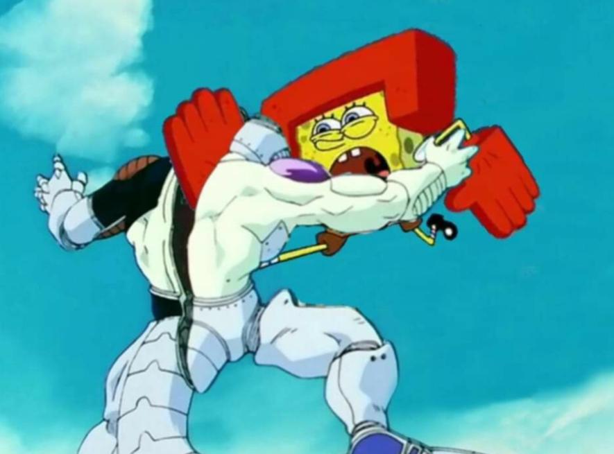 Spongeman icecone - meme