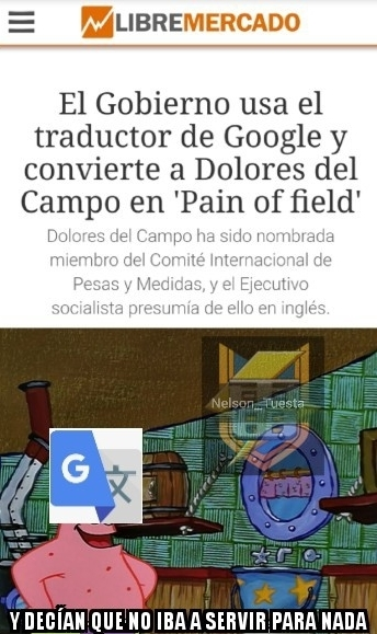 Traductor de Google = Fail - meme