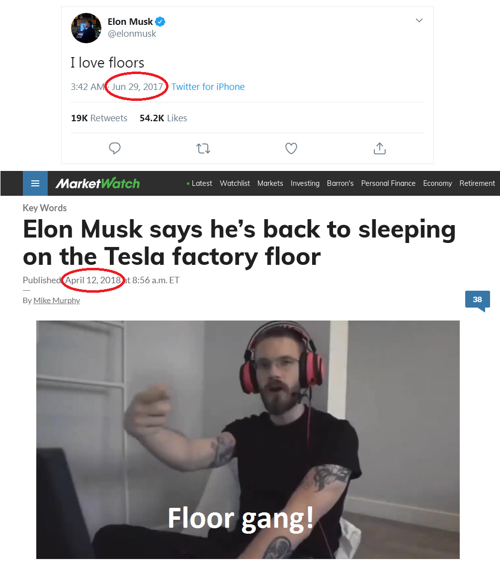 Elon Musk is floor gang - meme