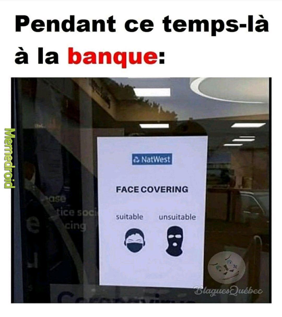 La banque - meme