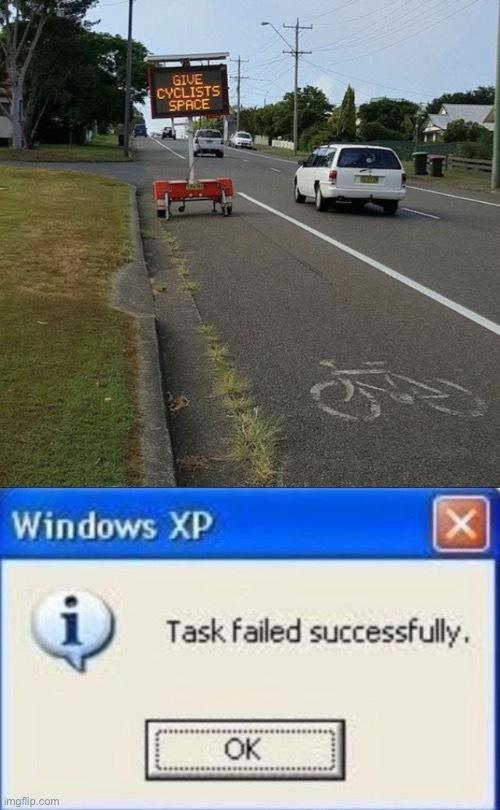 task failed successfuly - meme