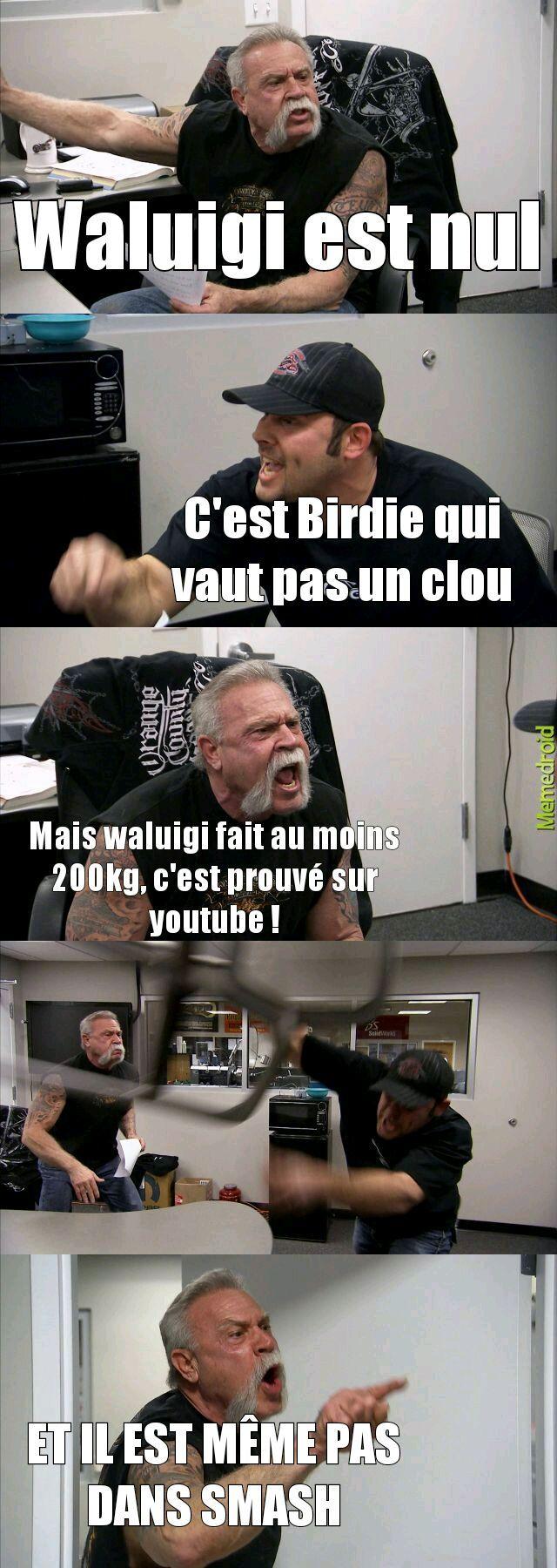 Waluigi smash :'( - meme