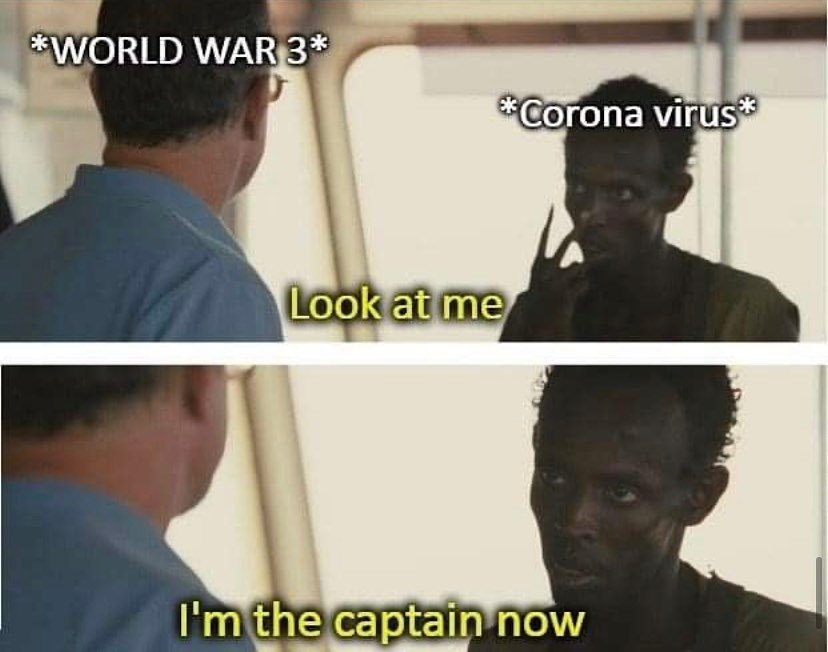 Bye ww3 hello corona virus - meme