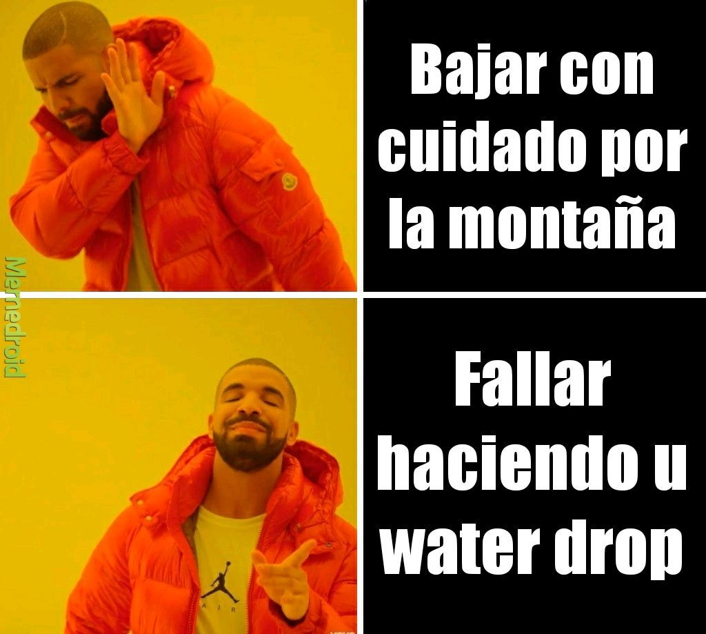 Water drop - meme