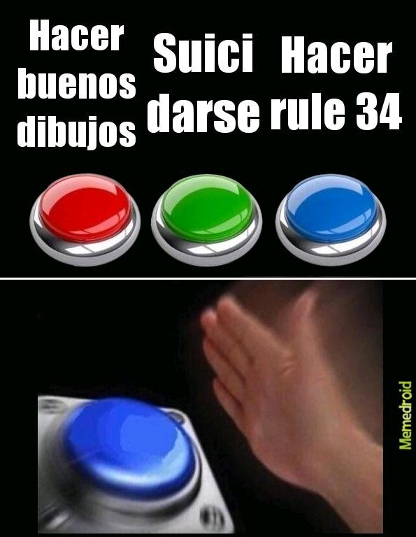 Por la chucha la rule 34 - meme