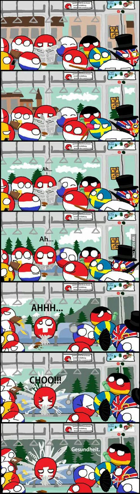 Suiza y sus creaciones. - meme