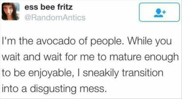 4th and 8 th comment gets an Avocado - meme