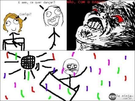 não cara quero dançar com o confete - meme