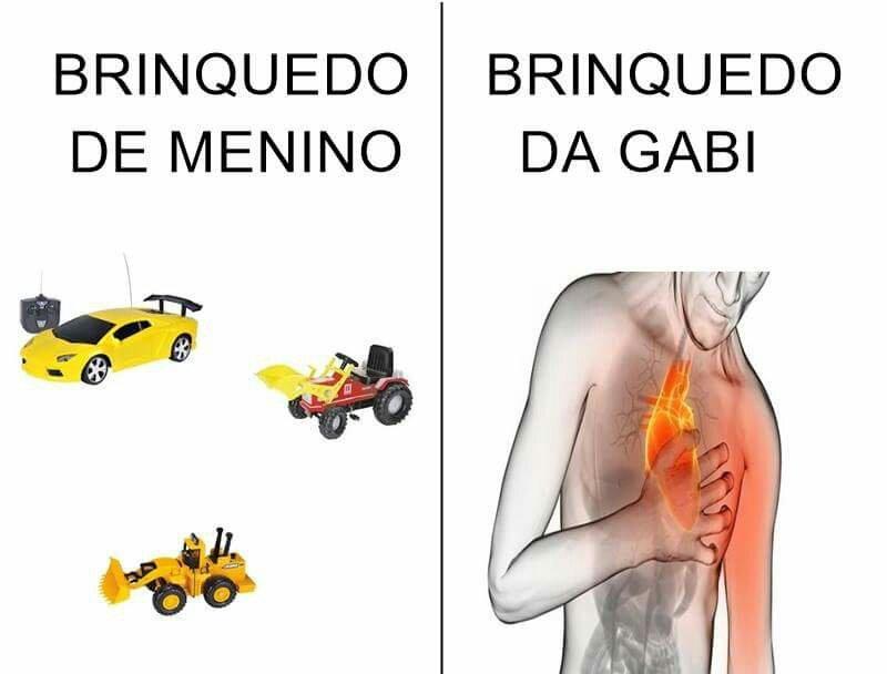 Brinquedos diferentes - meme