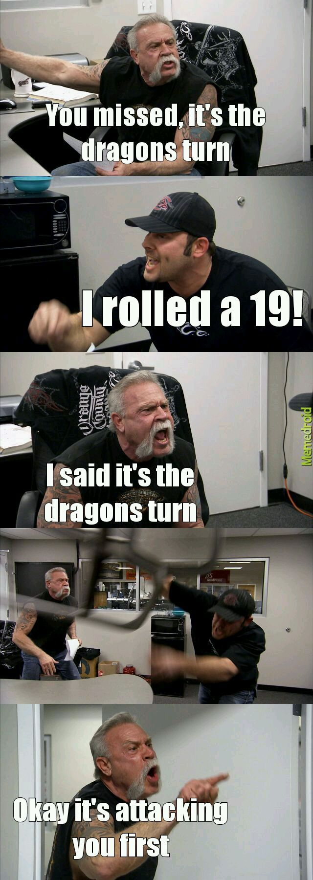 Dungeons and Dragons - meme