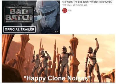 *happy clone noises* - meme