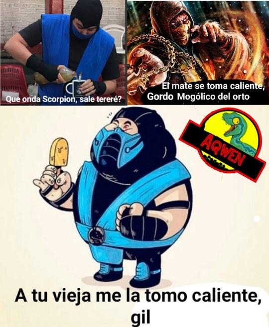 Scorpion gaucho matero vs Sub Zero Porteño - meme
