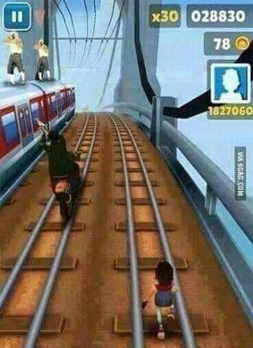 Wrong side of the tracks - meme