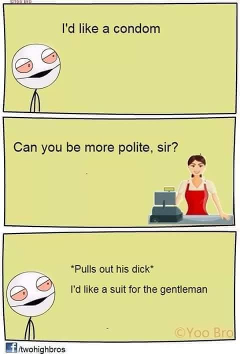 Polite penis - meme