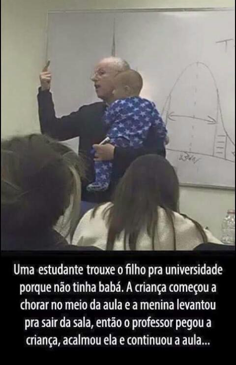 Isso ai que é professor - meme