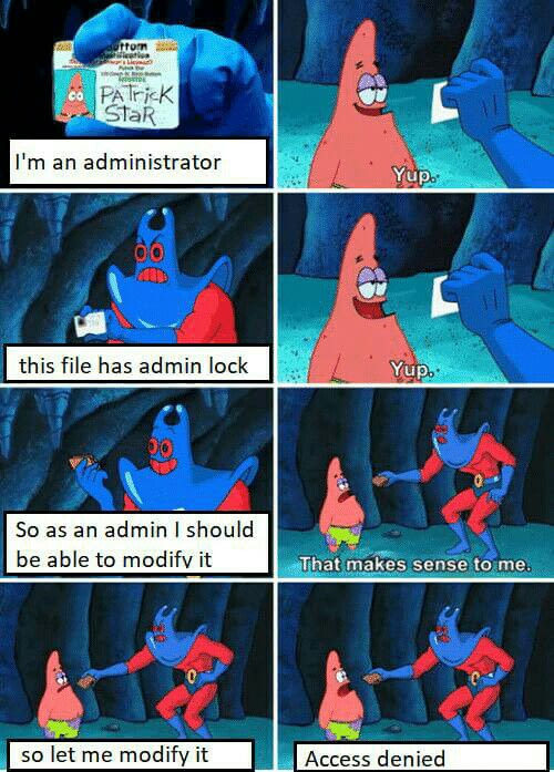 Windows administrator - meme