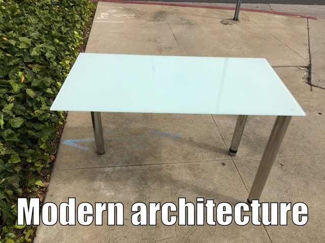Modern architecture - meme