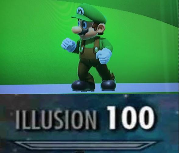 Estaba jugando smash y se me apareció este Mario - meme