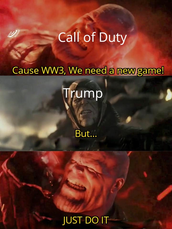 Thanos and WW3 - meme