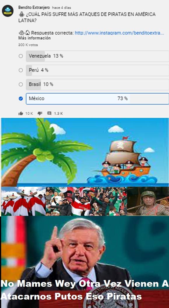 Mexicanos Vs Piratas - meme