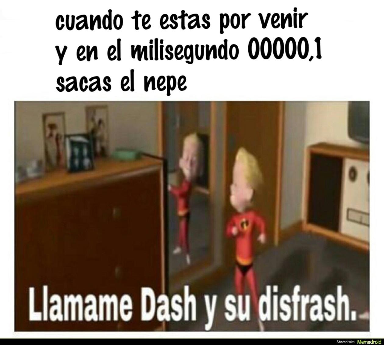 dash el polla flash - meme