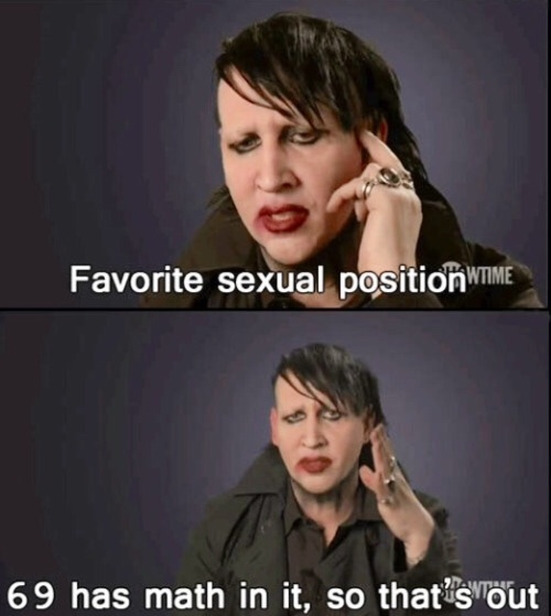 Marilyn Manson gets me - meme