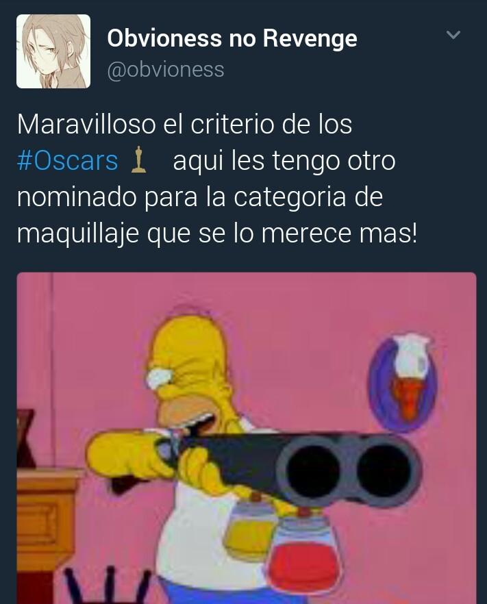#OscarParaLaEscopetaDeMaquillaje - meme