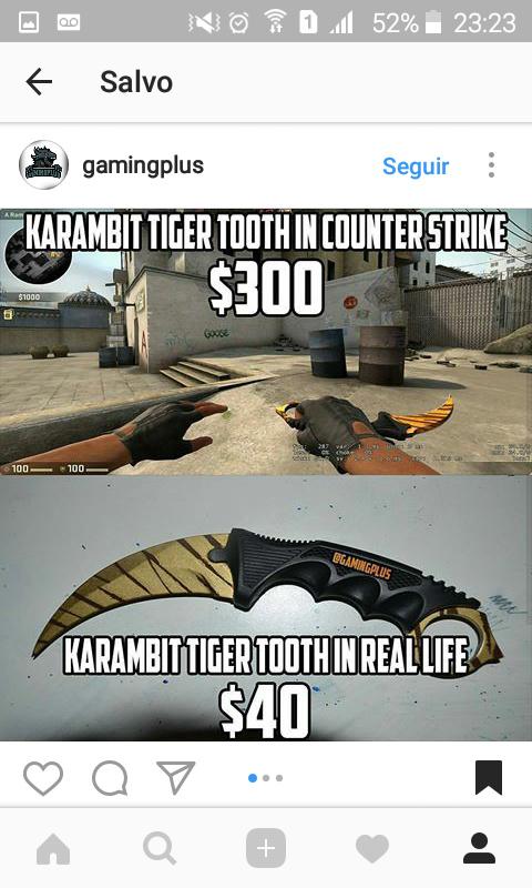 Ainda quero uma karambit... - meme
