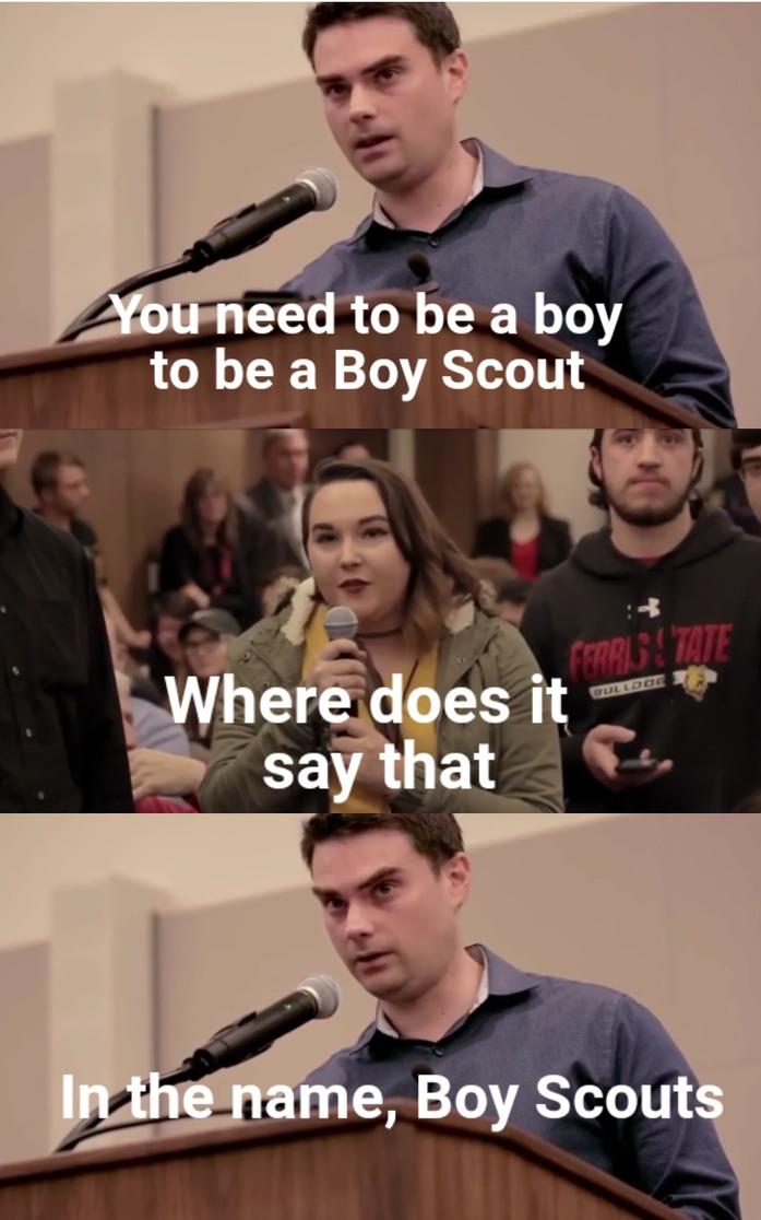 Credit to Ben Shapiro, I had to make this - meme