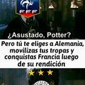 Nunca pensé que haría un meme sobre FIFA, la Segunda Guerra Mindial y Harry Potter