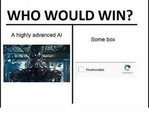 Robot vs captcha - meme