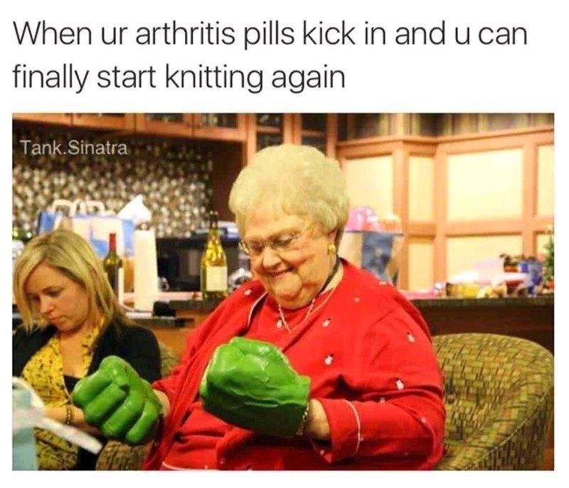 Grandma stronk - meme