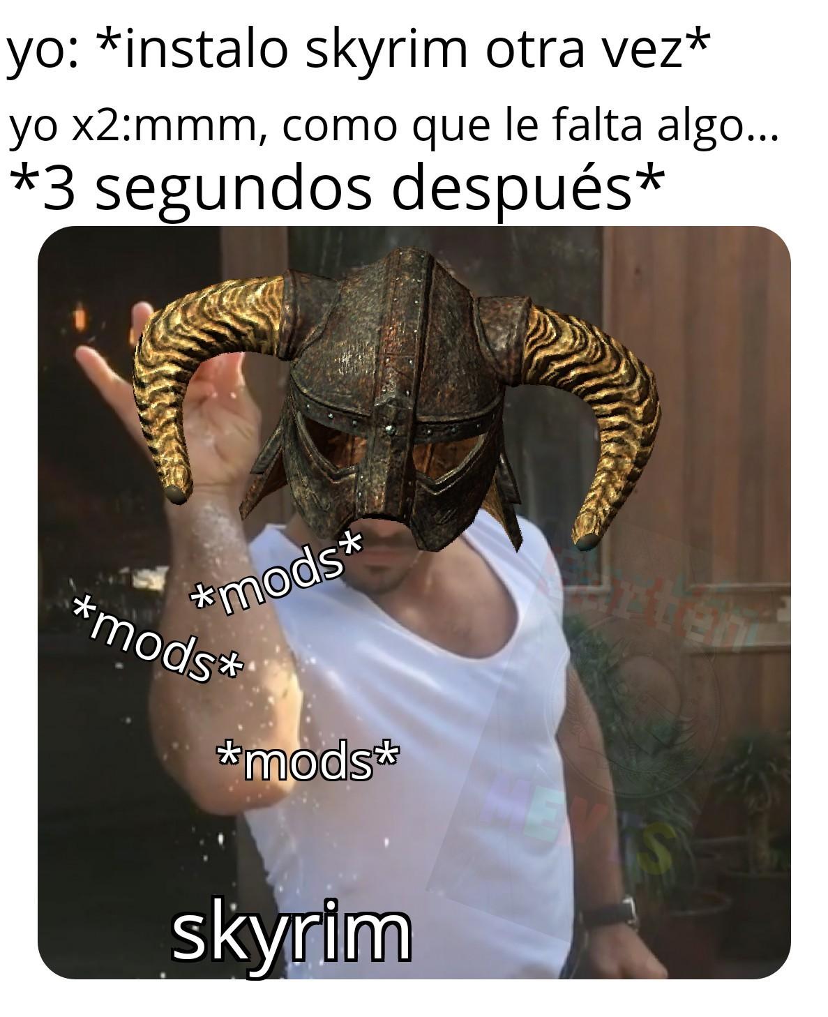 Skyrim: a home for chads - meme
