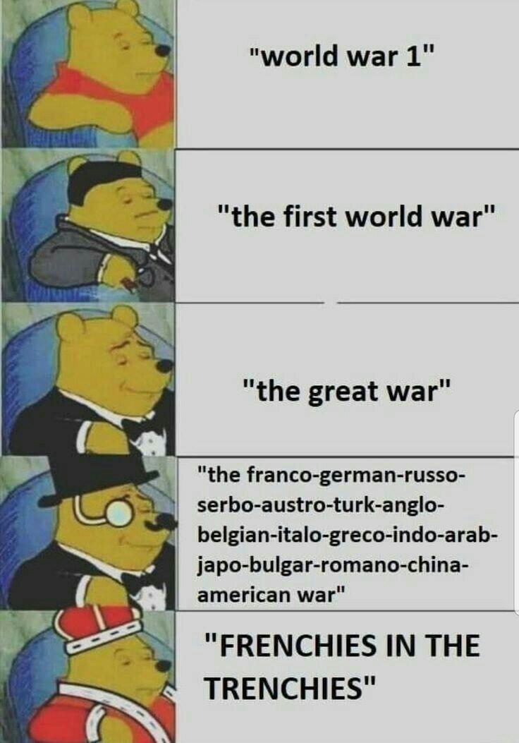Franceses en las trincheras - meme