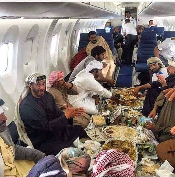 Welcome to arabic airplane - meme