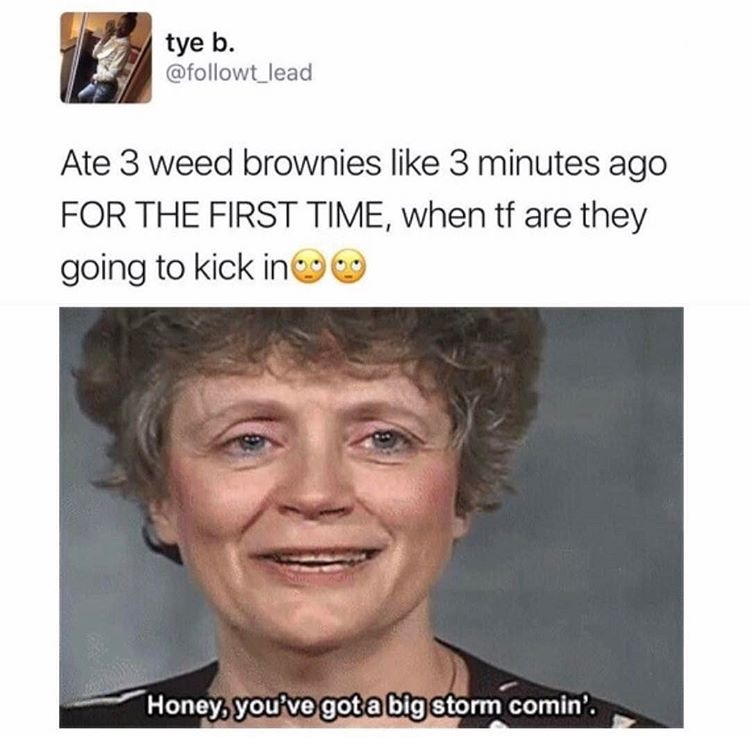 i got arrested for having weed cookies once - meme